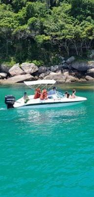 alugar charter lancha 18 pes ubatuba sp litoral norte 14 98