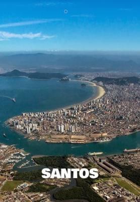 Imagem da cidade de Santos em um ângulo perpendicular